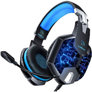 Auriculares gaming PS4 con 7 luces LED