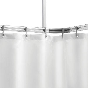 Barra de techo angular para el baño, para instalar una cortina para un plato de ducha