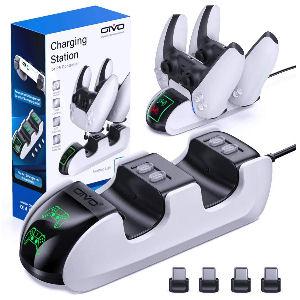 Cargador mando ps5 rápido con LED indicador de carga
