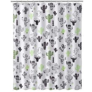 Cortina de ducha de cactus