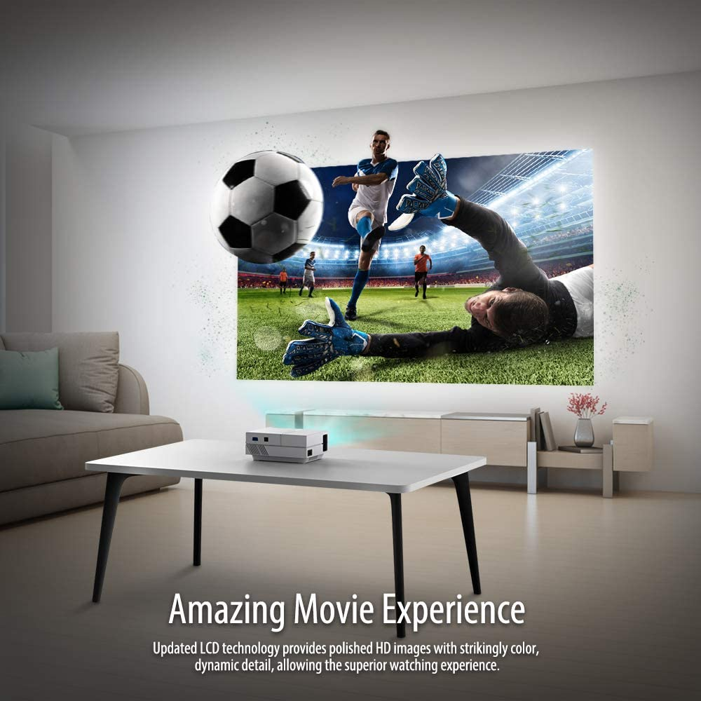 Disfruta del futbol en pantalla grande con un proyector portatil