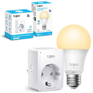 Enchufe inteligente con bombilla LED inteligente wifi compatible con Alexa, Google y Echo, de casquillo gordo E27