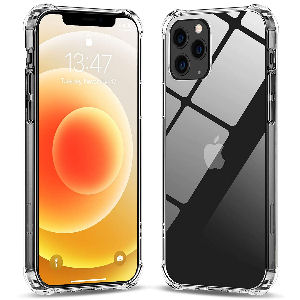 Funda iphone 12 y 12 pro anti choques, carcasa con panel posterior y marco suave