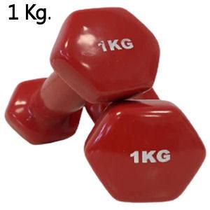Mancuernas de vinilo de 1 kg.