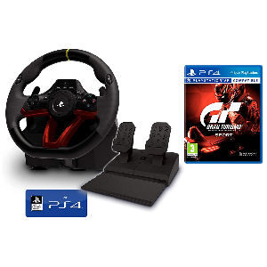 Pack volante con pedales y Gran Turismo PS4 GT Sport
