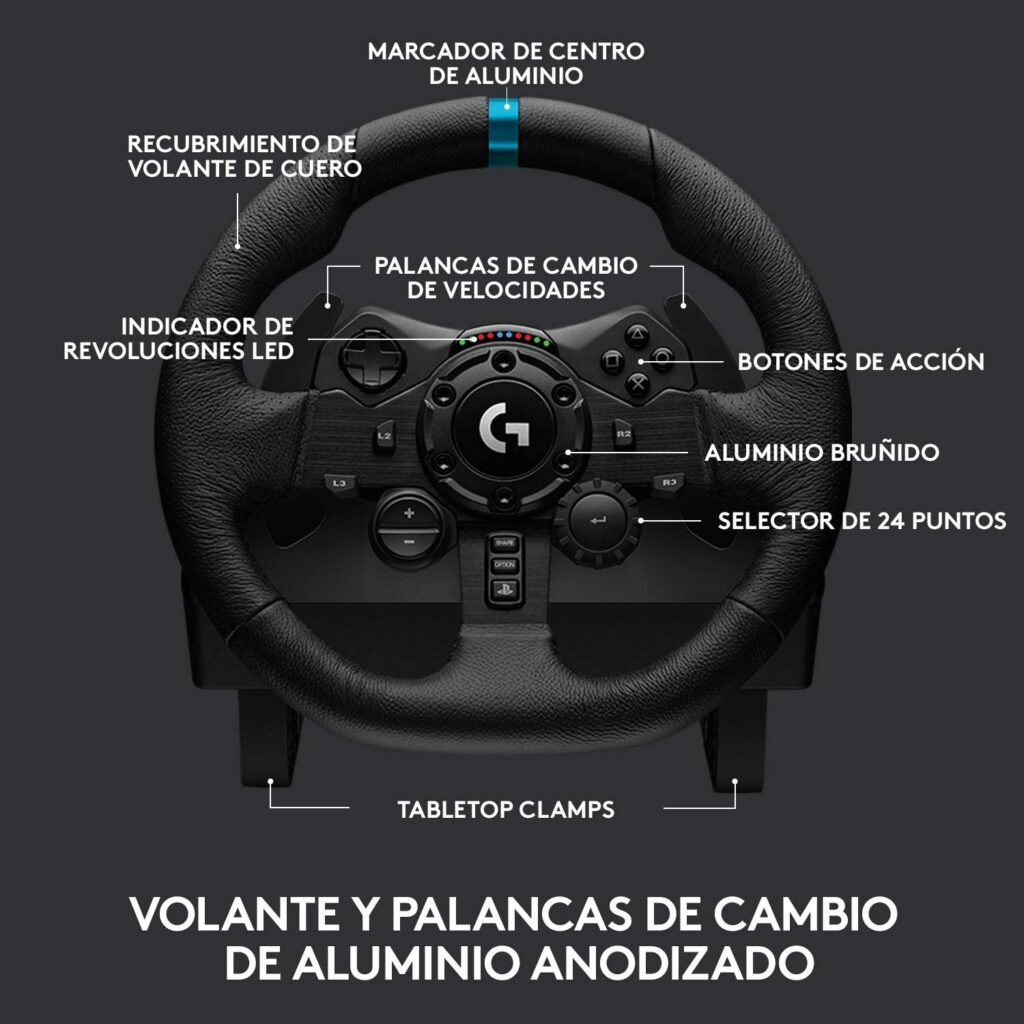 Que botones tiene un volante para ps4 pc