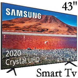 Samsung Crystal UHD Smart TV de 43 pulgadas con resolución 4K, HDR 10+, procesador 4K y función One Remote Control