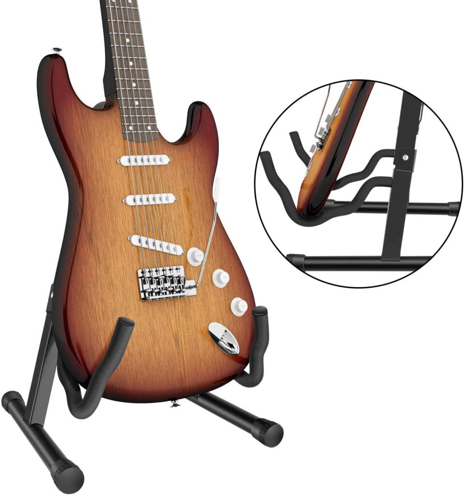 Soporte de guitarra eléctrica para el suelo