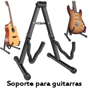 Soporte de guitarra plegable con goma antideslizante
