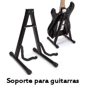 Soporte de guitarra robusto de acero