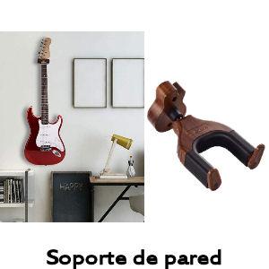 Soporte pared para guitarra con bloqueo automático