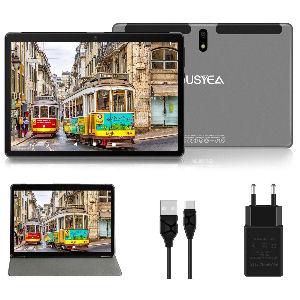 Tablet de 10 pulgadas con Android 10.0, 4 GB RAM, 64 GB almacenamiento extensible con batería de alta capacidad 8000 mAh