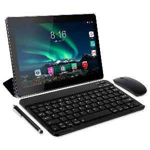 Tablet de 10 pulgadas con teclado, Android 10.0, 4G, 4GB de RAM, 64 GB de almacenamiento, doble SIM, GPS