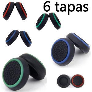 Tapas de colores para mando PS4, incluye 6 tapas, 3 pares de grips