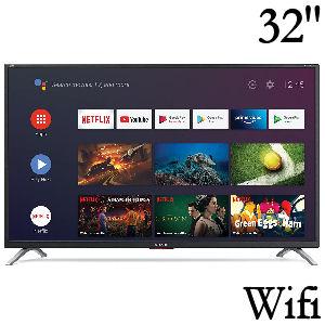 Tv Sharp de 32 pulgadas con Android, Wifi, Bluetooth, control remoto con asistentes de voz, altavoces Harman Kardon