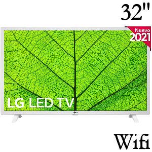 Tv blanca LG de 32 pulgadas con Inteligencia Artificial, Wifi, HDR10 Pro, sonido virtual surround 10W, 3 entradas HDMI, 2 USB, Bluetooth