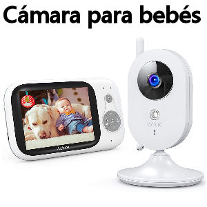 Vigilabebés inalámbrico con cámara de vídeo y audio