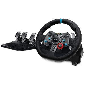 Volante con pedales para Ps4, Xbox y Pc