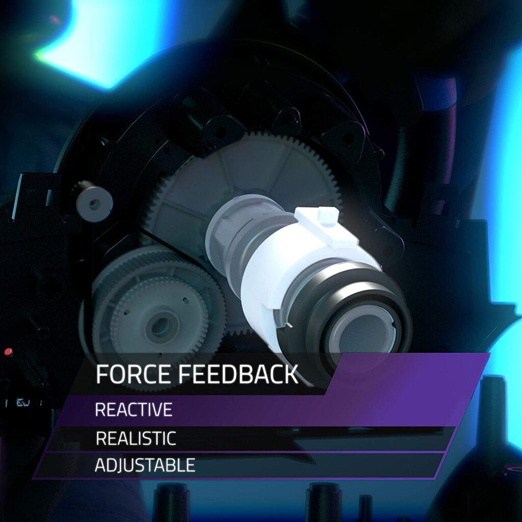 Volante realista para videojuegos con Force Feedback